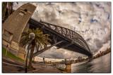 Sydney Harbour Bridge with fisheye