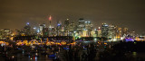 Panorama at night of Sydney Harbour