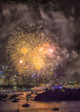 Sydney Opera House with fireworks