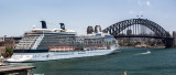 Celebrity Solstice in Sydney Harbour panorama