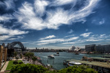 Sydney Harbour with superb cirrus cloud formation