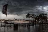 Storm at Circular Quay with Black Watch cruise liner