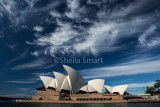 Sydney Opera House with cirrus clouds