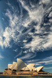 Sydney Opera House with dramatic sky