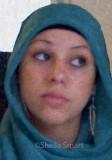 Girl in blue hijab