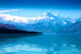Lake Pukaki with Mt Cook
