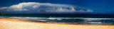 Manly Beach with storm cloud panorama