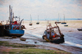 Boats on mudflat at Leigh on Sea