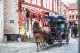 Horse carriages in Brugge
