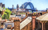Sydney Harbour Bridge from Rocks - impressionist version