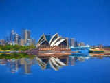 Sydney Harbour reflection