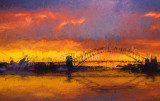 Sydney Harbour at sunset - a Turneresque treatment