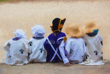 Children in convict clothes