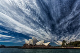 Sydney Opera House again with cirrus clouds