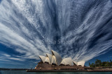 Sydney Opera House with cirrus cloud formation