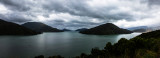Charlotte Sound panorama, South Island, New Zealand