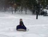 me shooting pics in the snow at the feeders