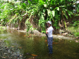 Tom in. Platanares River