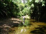 Tom in  river