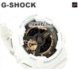 NEW CASIO G-SHOCK ANTI-MAGNETISM GA-110RG GA-110RG-7A WHITE, BLACK & ROSE GOLD