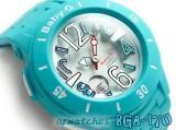 CASIO BABY-G ANALOG-DIGITAL FLOATING NUMBERS DESIGN BGA-170-2B BGA-170-2BDR BLUE