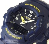 2015 CASIO G-SHOCK ANALOG DIGITAL DUAL TIME 200M G-100-2B G-100-2BVMES BLUE x BLACK