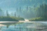 * 104.14 - Baptism River: Near Finland, MN.   Seen In Morning Mist