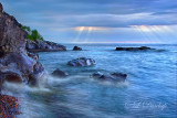 ** 70.1 - Temperance:  Lake Superior, Blue Dawn With Rocks