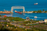 * 96.6 - Duluth Harbor: Summer Afternoon With Five Boats
