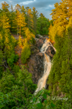 *** 56.4 - Pattison State Park:  Big Manitou Falls At Sunset's Golden Hour