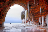 80 - Lake Superior Ice Caves, Wide View Inside