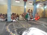 Sri TA Krishna Iyengar felicitating Gomatam swami