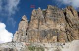 Sass Pordoi south arete in Sella ,our first day climbing