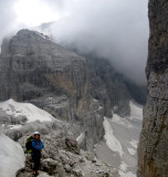 Back at the the foot of the Basso- 14 pitches up and 7 abseils down