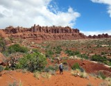 Arches National Park on our first day-the sun comes out