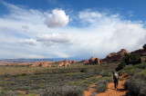 The weather clears in Arches NP