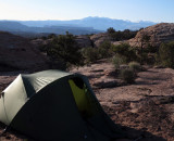 Our first camp just outside Arches NP