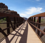 We exit Arches NP and hike over the Colorado river to Moab