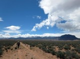 Hiking up towards the Henry mountains