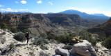 At the top of the Tarantula Mesa cliff band- we find a cairn -hoorah!