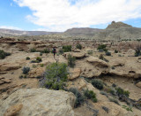 Looking for the drop into Swap Canyon -complex rocky terrain made for slow going