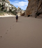 Sandy Hackberry Canyon floor - nice but slow going