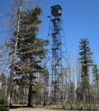 Disused fire lookout tower as we enter Grand Canyon National Park