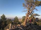 Evening on the canyon rim- we drop 6000 feet tomorrow