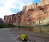 Great beach camp next to the Colorado River