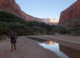 A break from bushwacking 10 miles alongside the Colorado