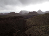 Weather looming over the canyon