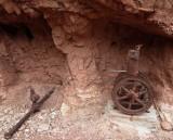 Old mine relics near Horseshoe Canyon