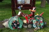 Hawes Green Dragon Inn crochet bike