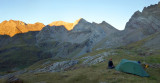Sep 2015 First camp in Cirque d'Estaube looking east